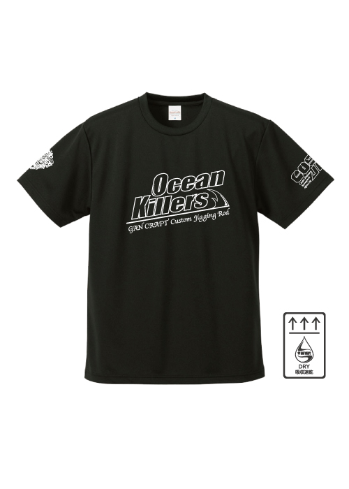 Ocean Killers x CosoJig Dry T-Shirt【Black】