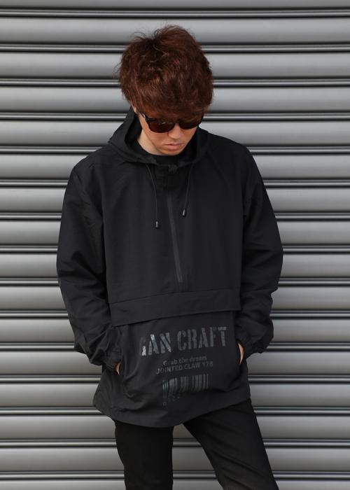 GANCRAFT BARCODE アノラックパーカー【Black】