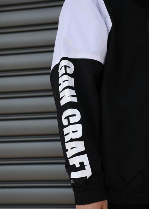 GANCRAFT ORIGINAL ナイロントラックジャケット【Black x White】