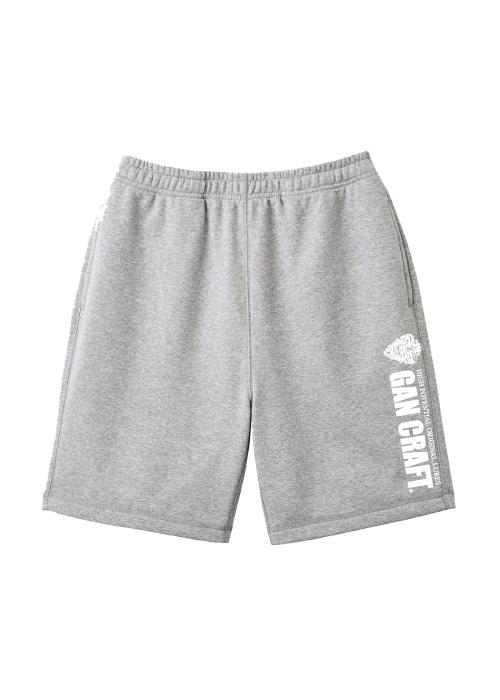 GANCRAFT Sweat Short Pants 【Gray】
