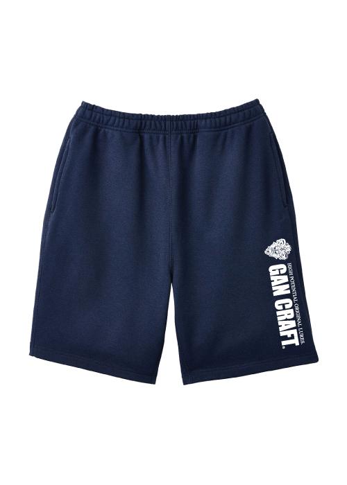 GANCRAFT Sweat Short Pants 【Navy】